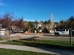 Water and sewer improvements for the new Townhomes on Newport Ave