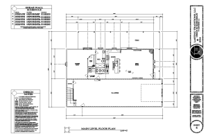 Floor plan for home w/ RV bay