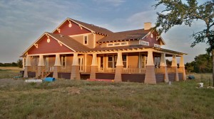 Craftsman style home in the Midwest