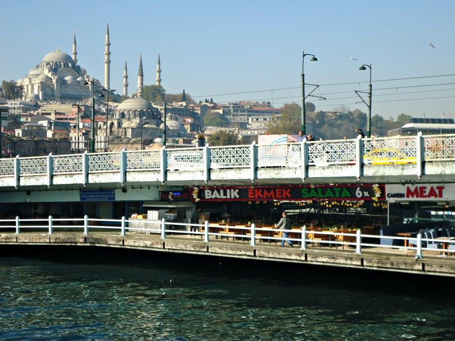 Rustem Pasch & Suleymaniye Mosques behind Galata Bridge
