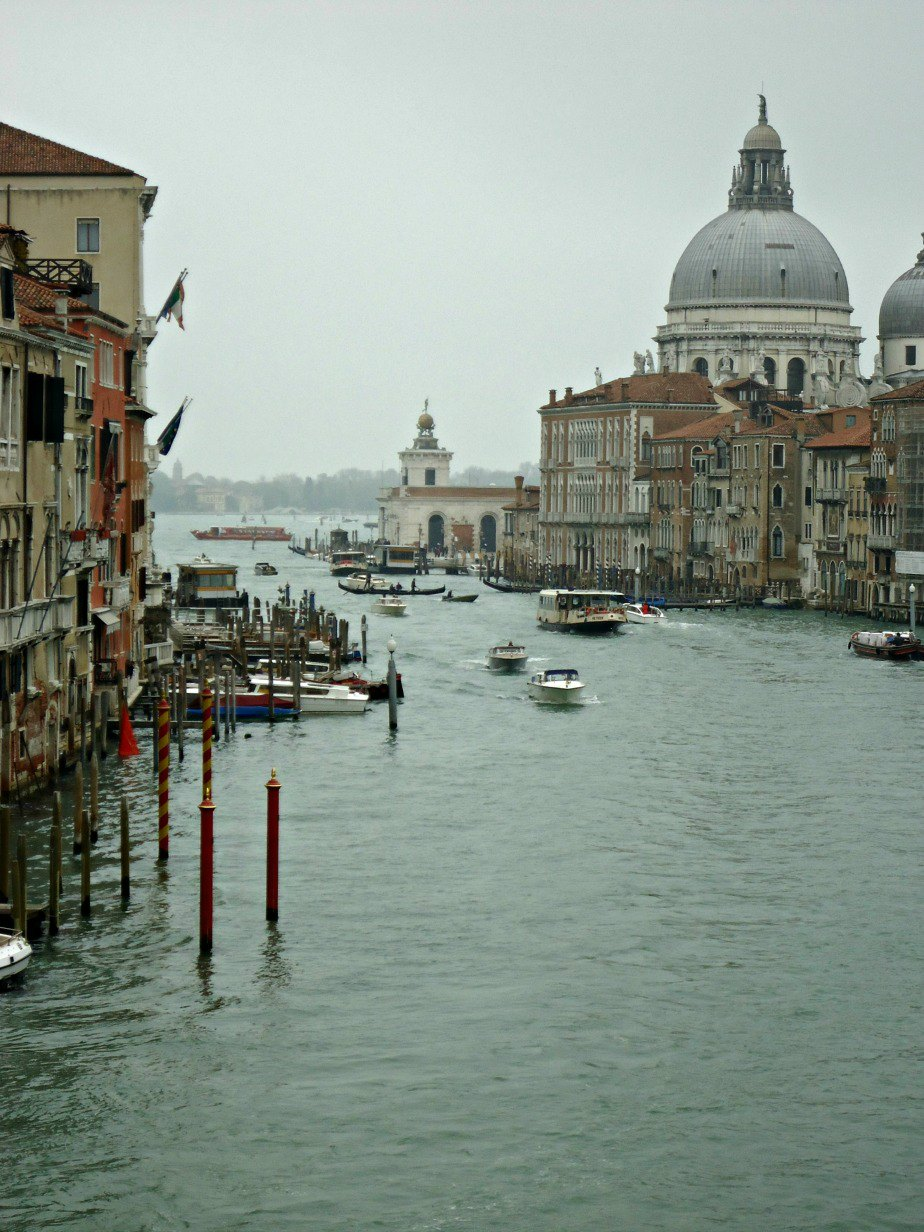 Basilica di Santa Maria della Salute on the Grand Canal in Venice Italy