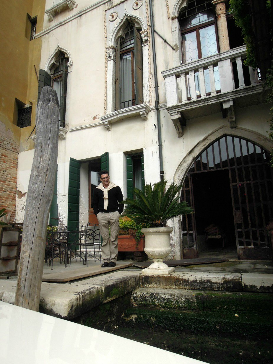 Matteo Peruch at the Al Ponte Antico Hotel on the Grand Canal Venice Italy