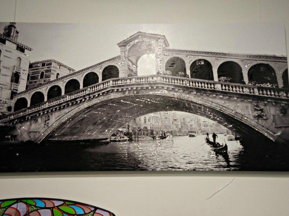 Glittering Rialto Bridge taken in Dorsoduro Venice Italy