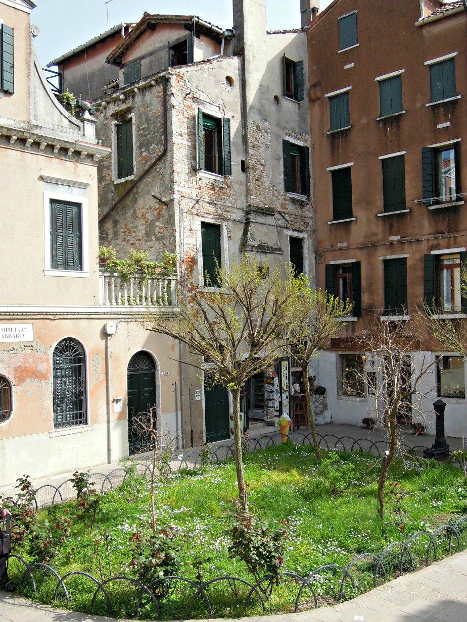 Park in Dorsoduro Venice Italy