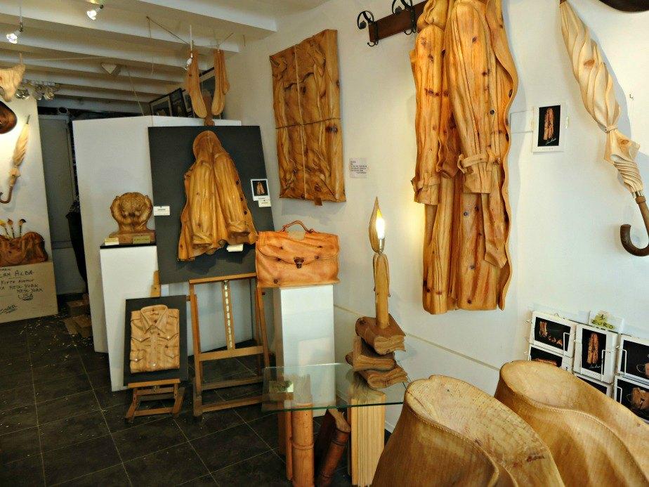 Wooden Sculptures taken in Dorsoduro Venice Italy