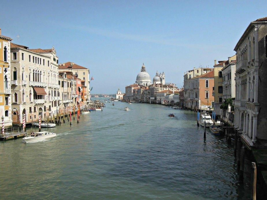 Grand Canal in Dorsoduro Venice Italy