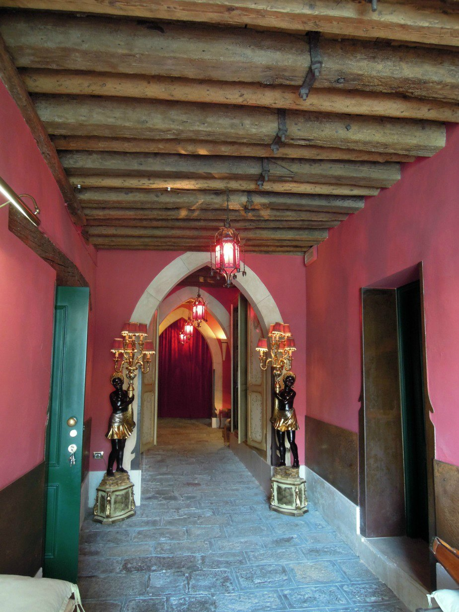 Image of Al Ponte Antico Hotel Entrance Grand Canal Venice Italy
