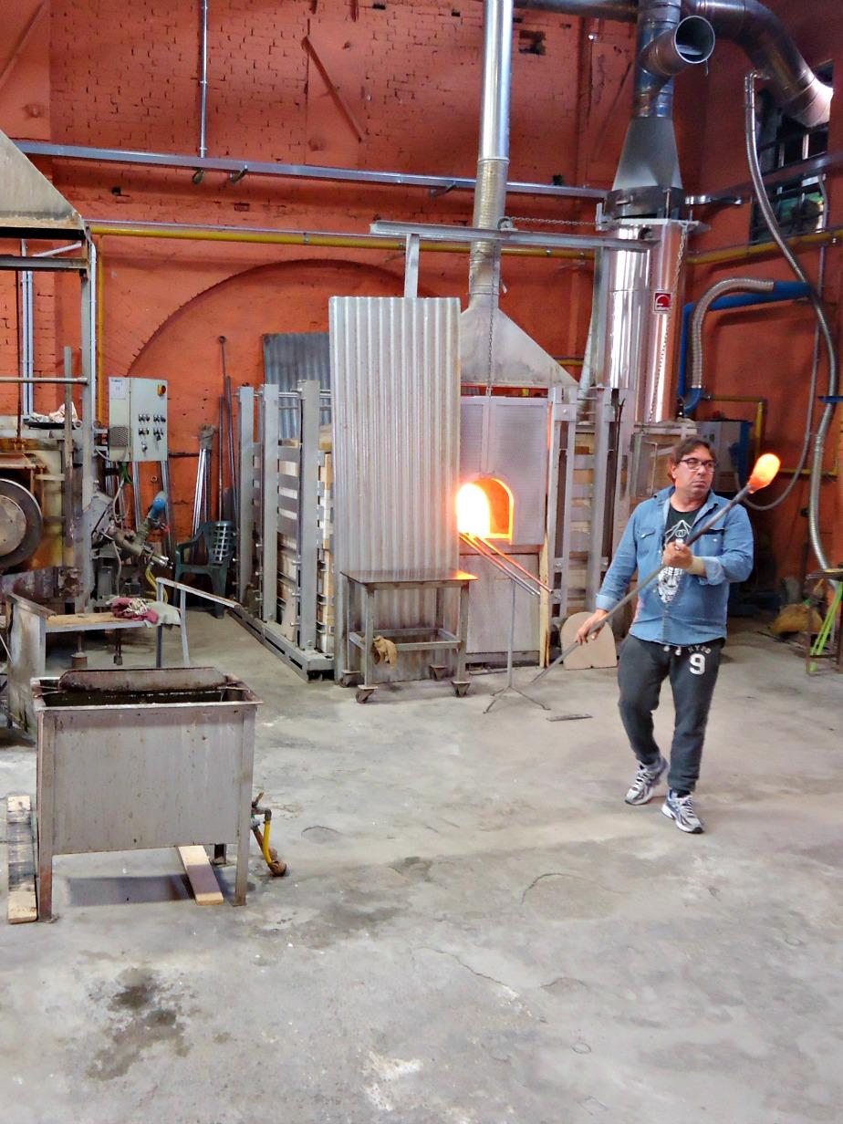 Glass Blower at Estaven Rossetto Fornace Murano