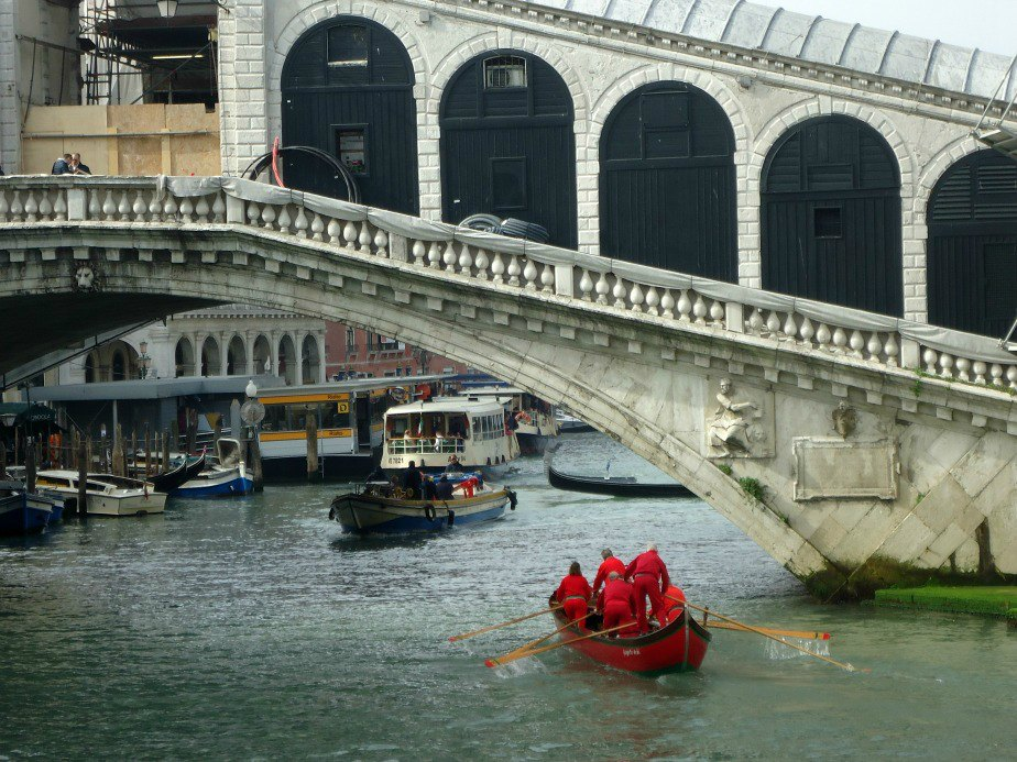 The Rialto Bridge under Restoration by the Diesel Fashion House Grand Canal Venice
