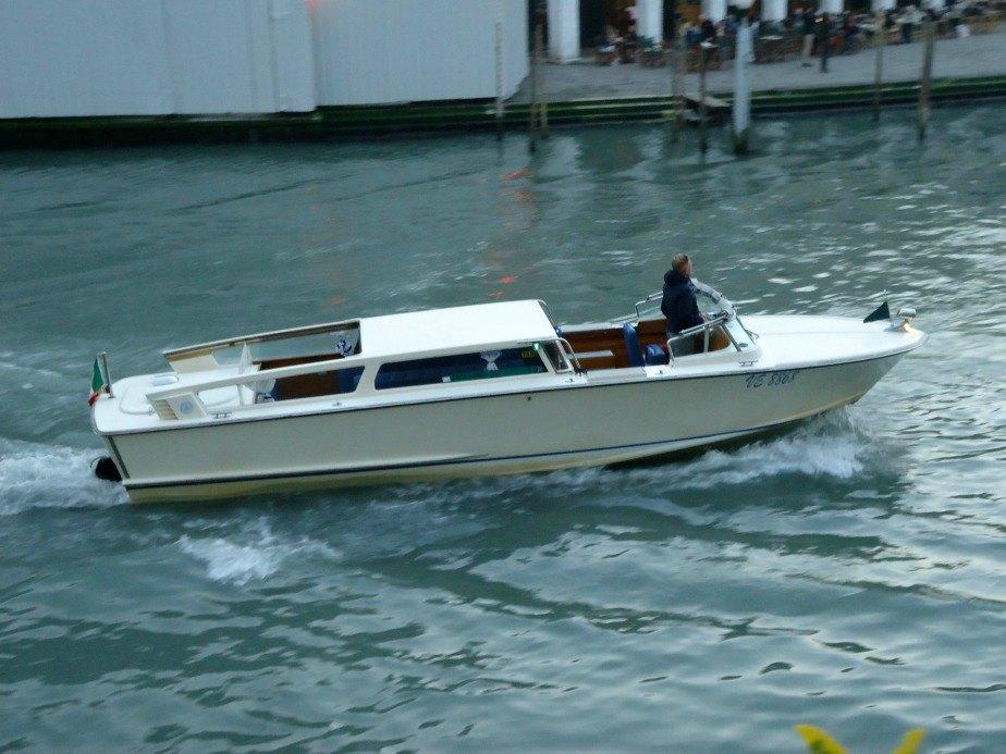 Venitian Water Taxi Grand Canal Venice