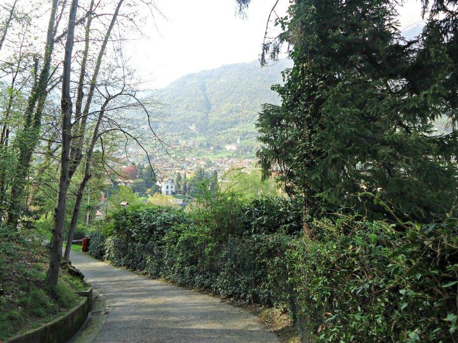 Path Leading back to Lenno from Villa del Balbianello Lake Como Italy