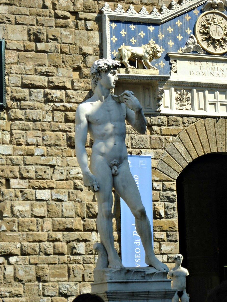 David Outside City Hall Palazzo Vecchio