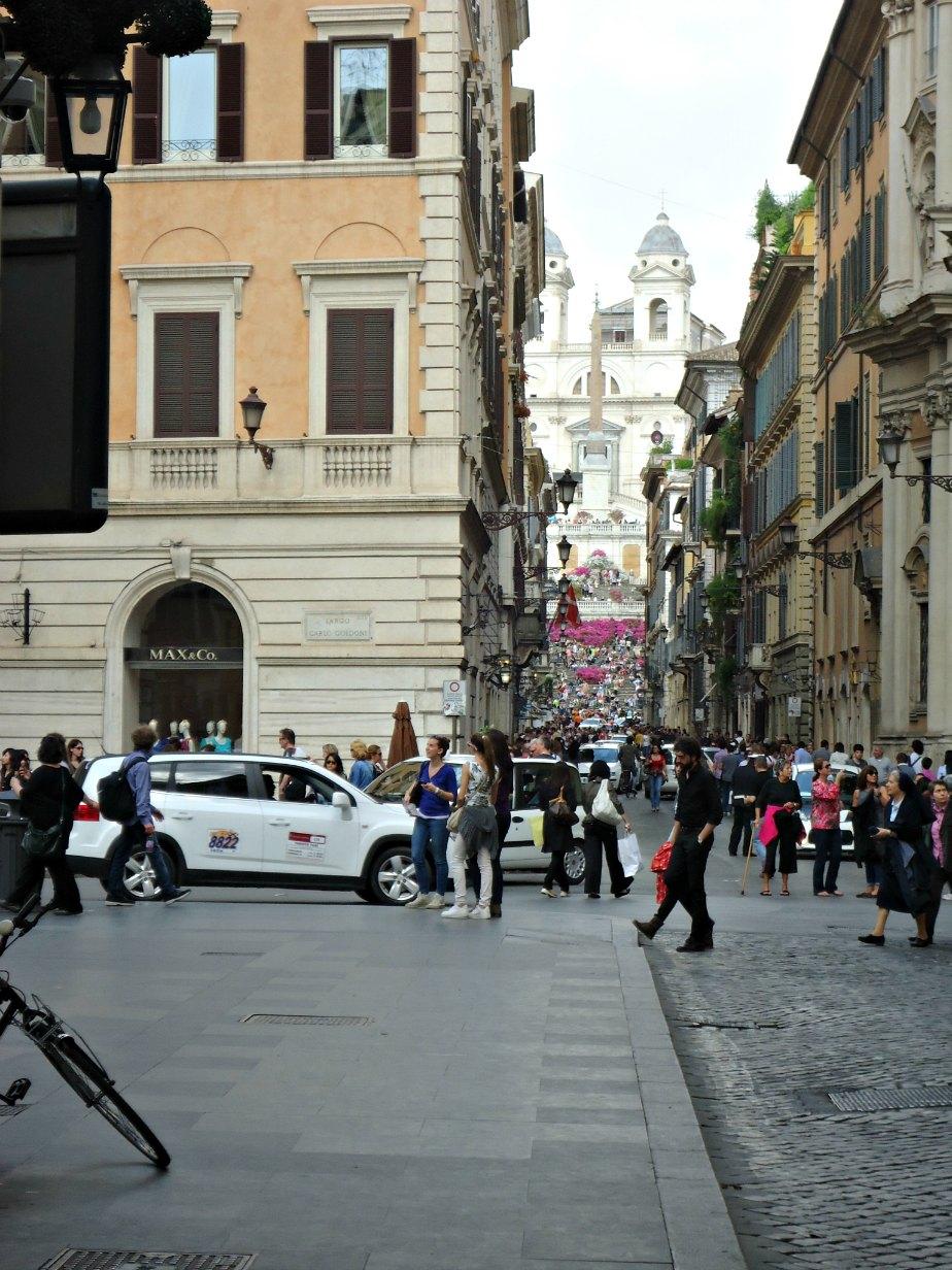 Via Condotti from Fendi to the Spanish Steps