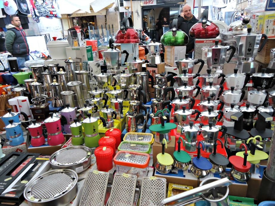 Coffee Pots at Campo dei Fiori