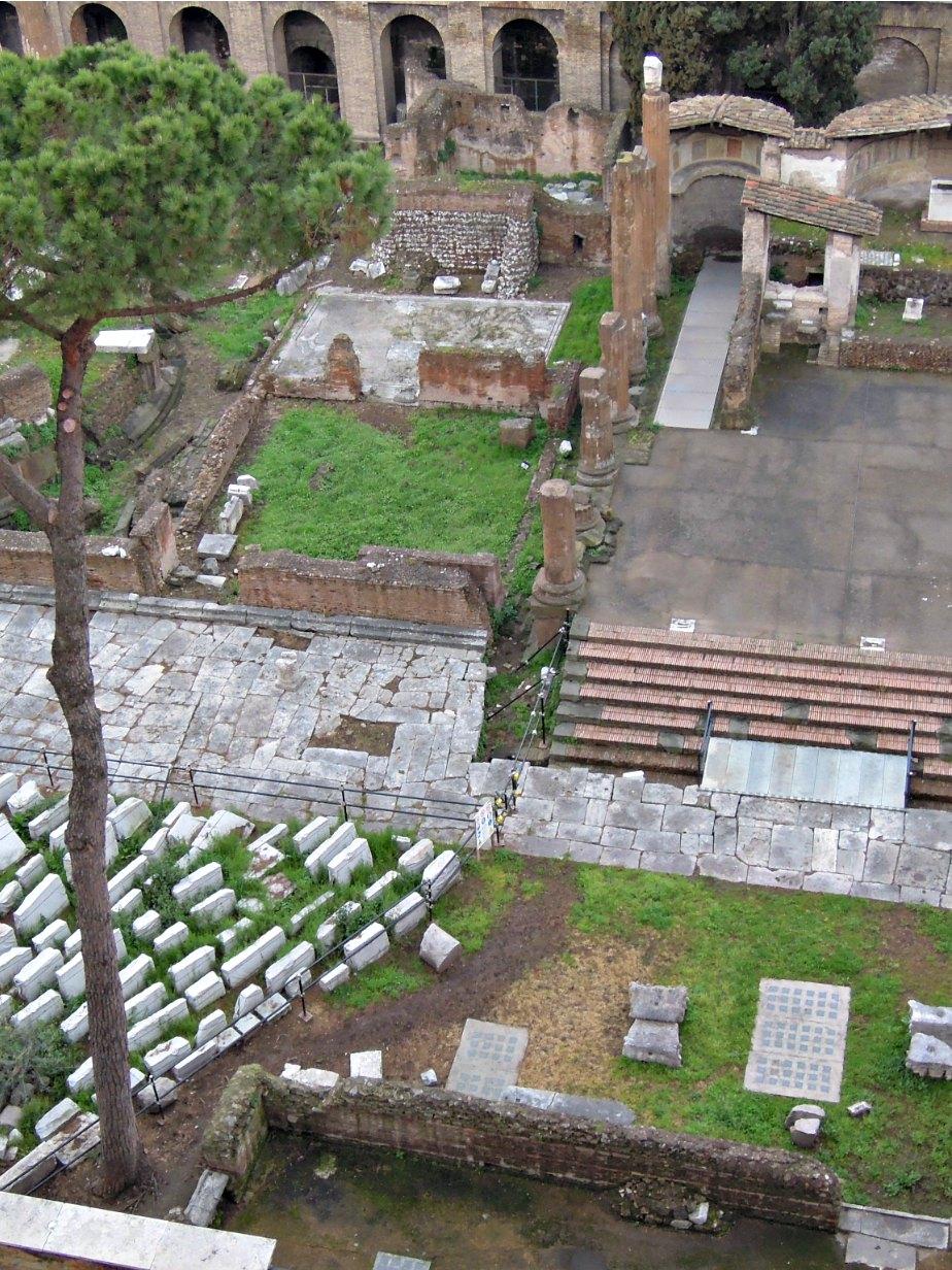 Archeological Dig in Largo Torre Argentina, Rome