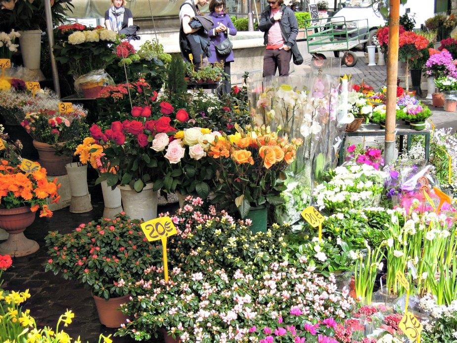 Flower Market at Campo dei Fiori, Rome