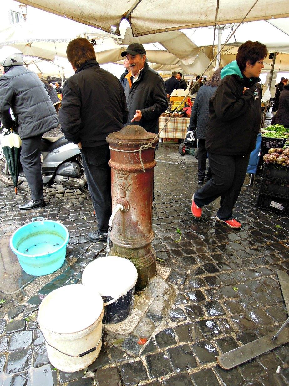 Fresh Drinking Water at Campo dei Fiori, Rome