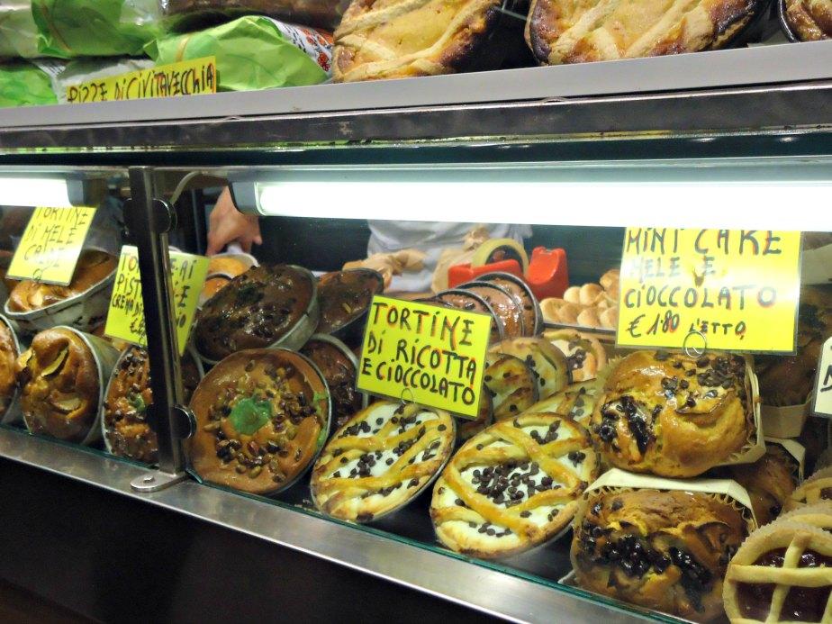 Pies at Roscioli Bakery, Rome
