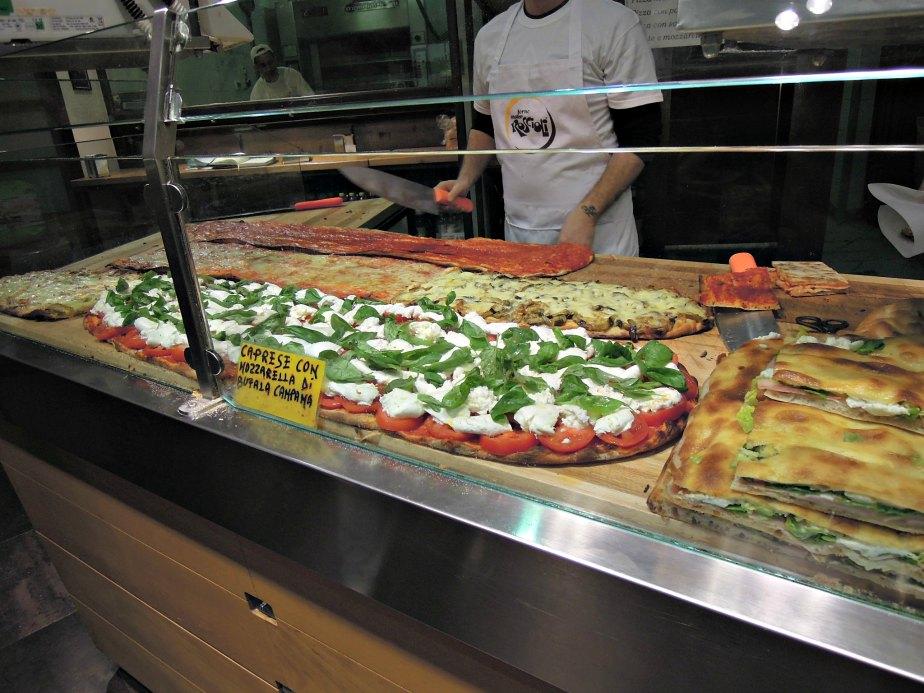 Pizza at Roscioli Bakery, Rome