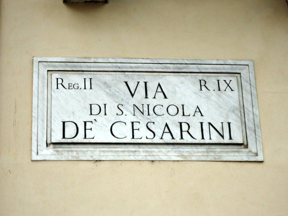 Via di s Nicola De Cesarini, Rome