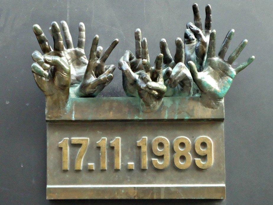 Hands from the Velvet Revolution Prague