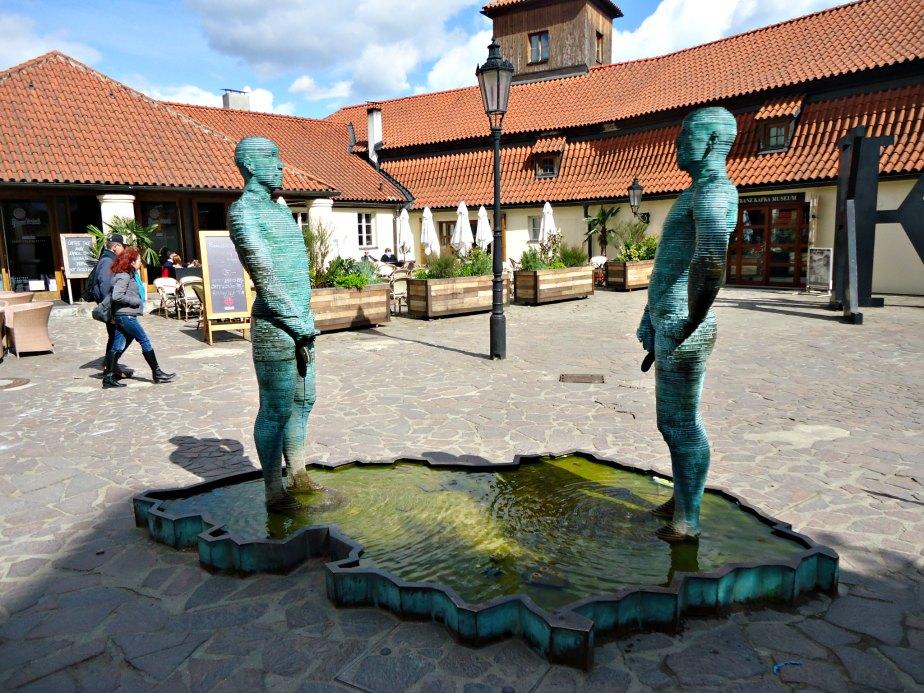 """""""Piss"""" Outside Franz Kafka Museum Prague"""