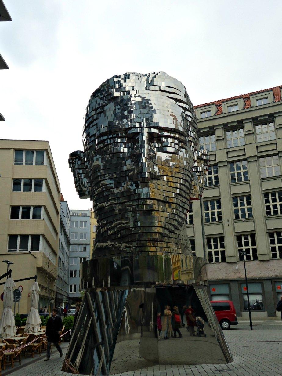 Franz Kafka's Head by David Cerny Prague