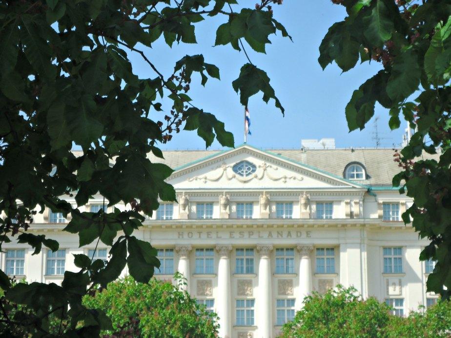 Esplanade Hotel framed with Greenery