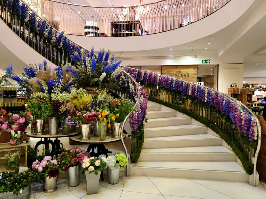Stairs at Fortnum and Mason, Piccadilly