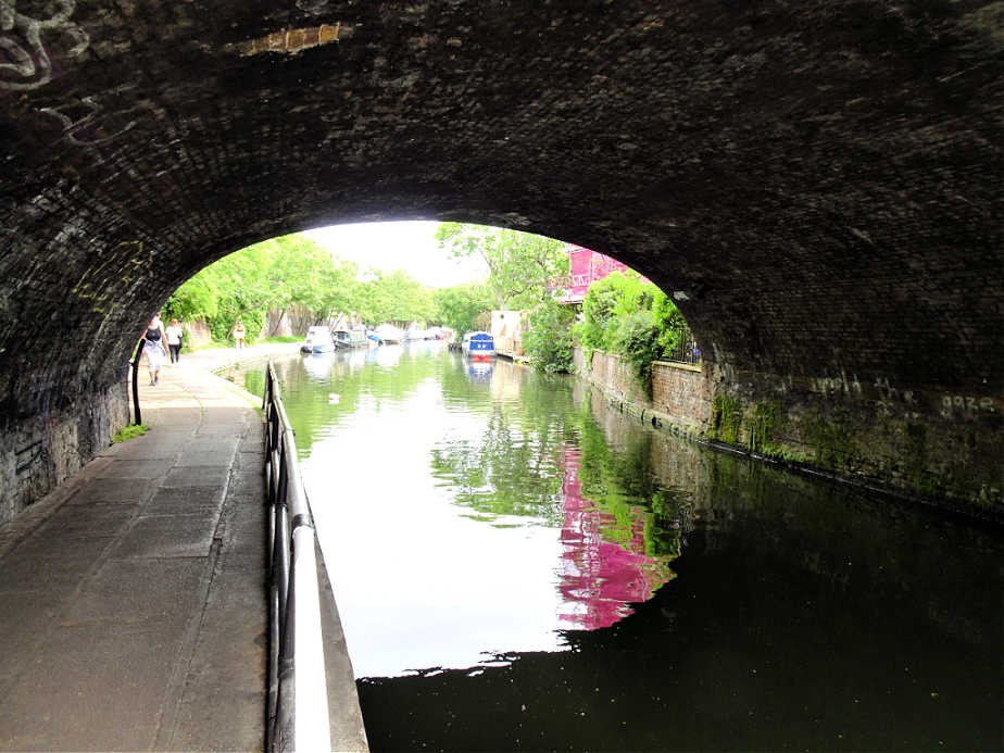 On Regent's Canal under the Road