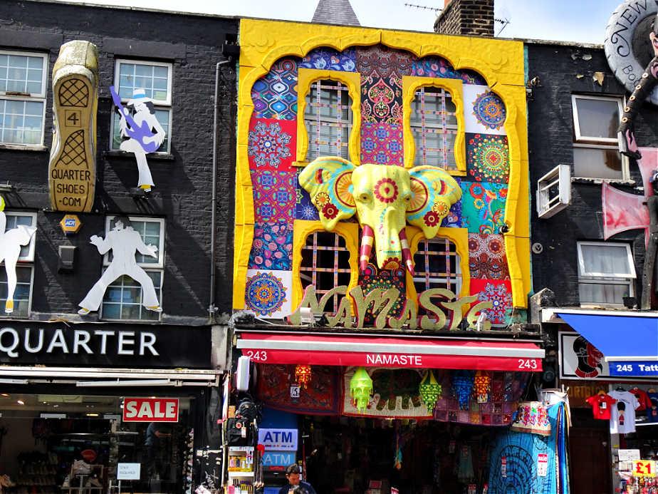 Namaste Shop Front in Camden Town
