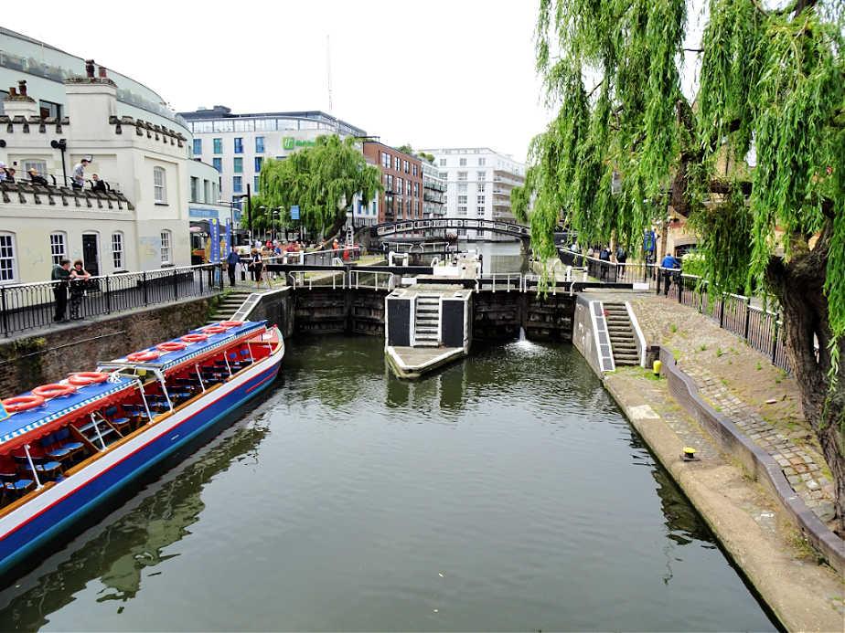 Long Boat Waiting at Camden Lock
