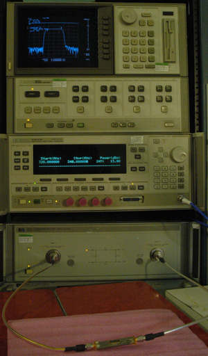 HP8510C vector network analyzer