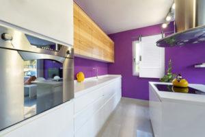 Goldberg Brothers shutter series hardware in modern kitchen