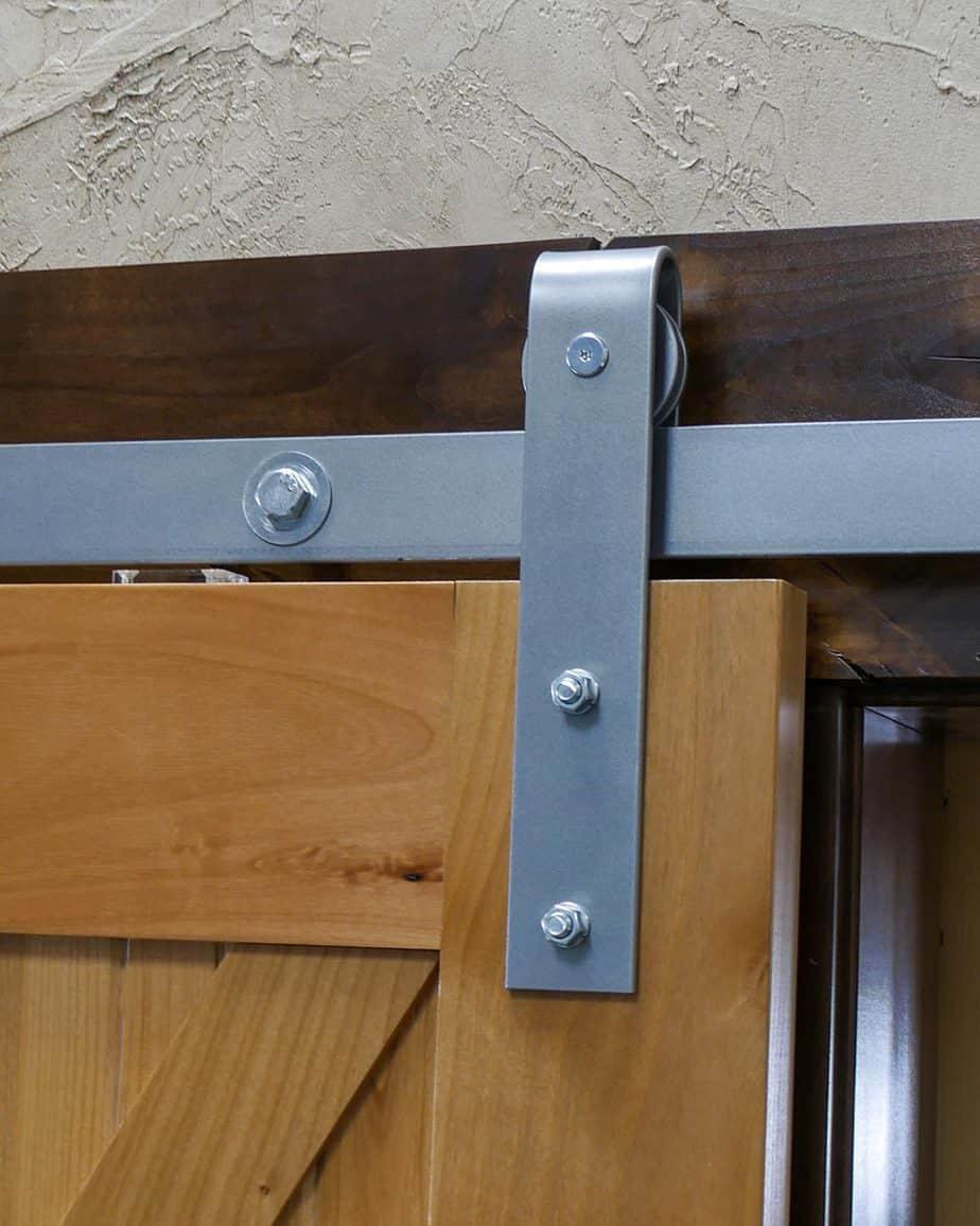 barn door hardware J-strap roller hanger