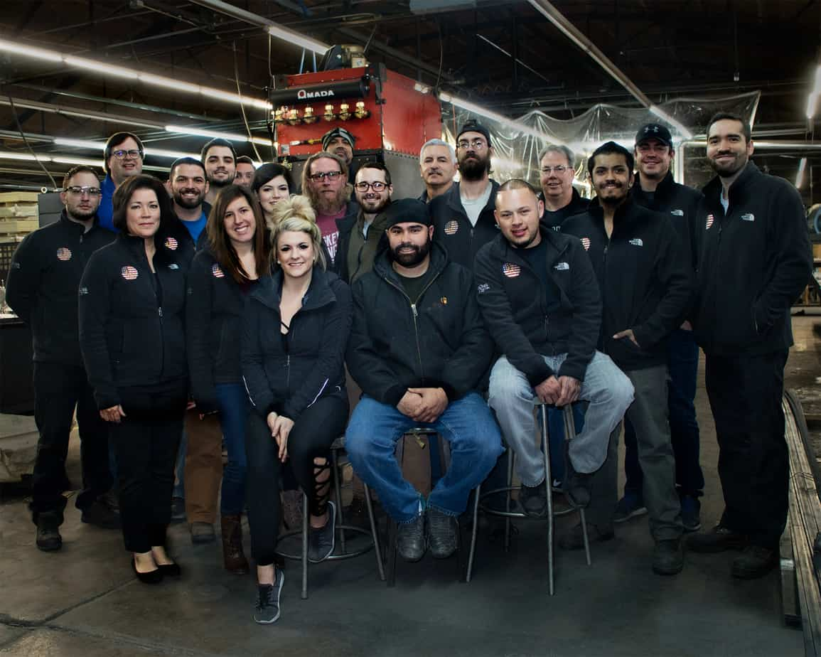 Goldberg Brothers employees inside factory