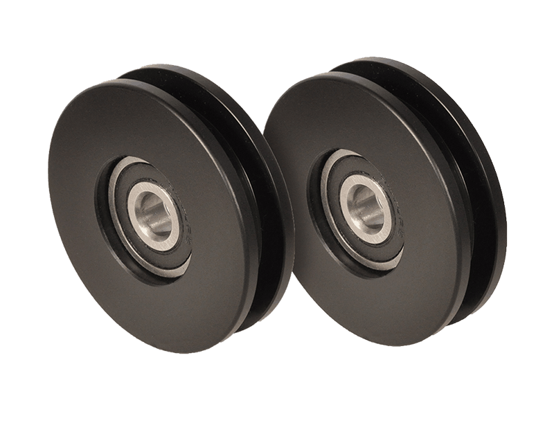 Delrin silent rollers for barn doors