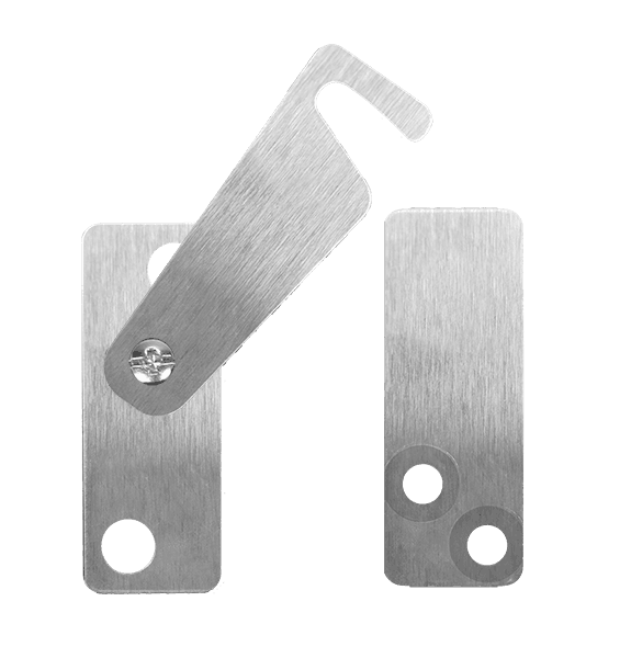 stainless steel privacy latch for biparting barn doors