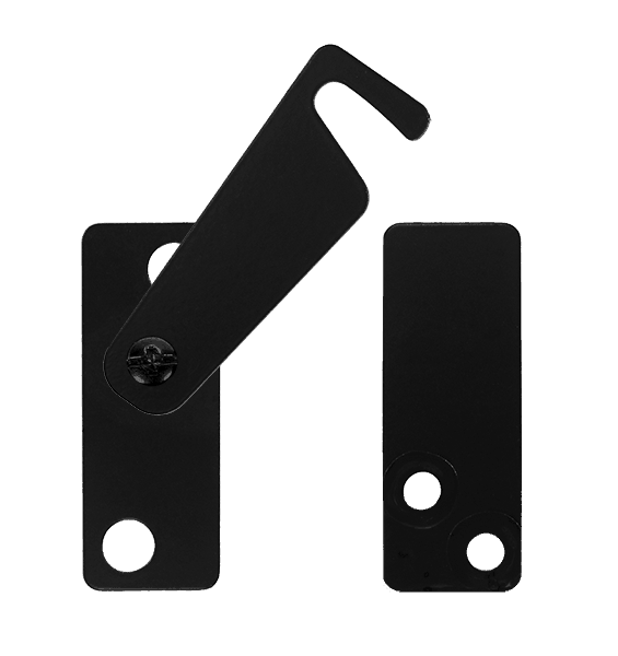 steel privacy latch for biparting barn doors