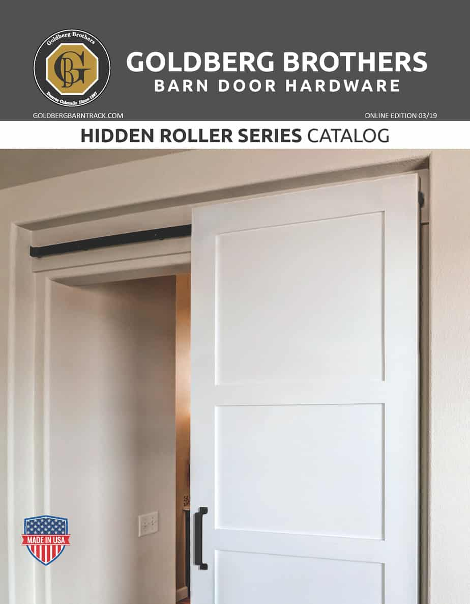 Goldberg Brothers Hidden Roller Series barn door hardware catalog