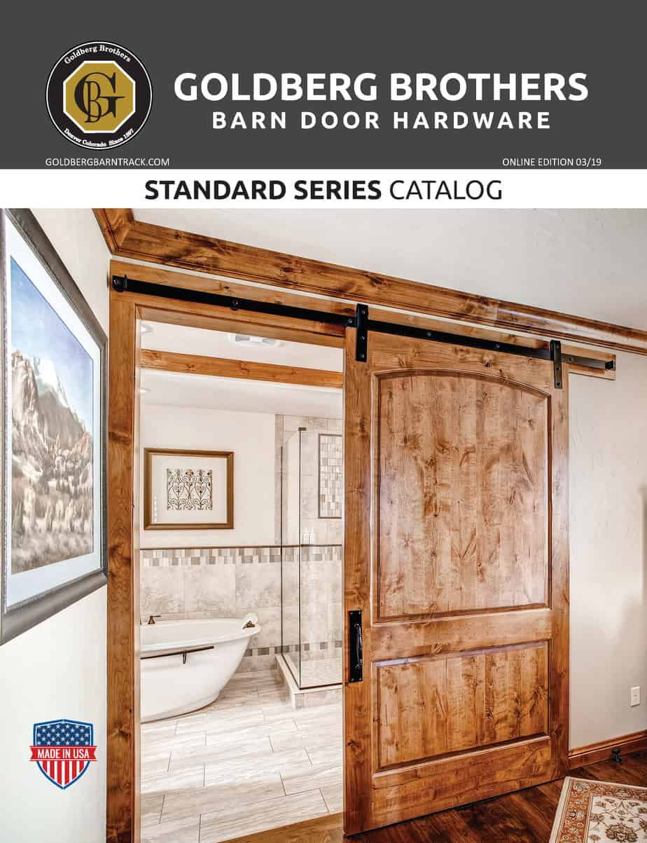 Goldberg Brothers Standard Series barn door hardware catalog (online edition)