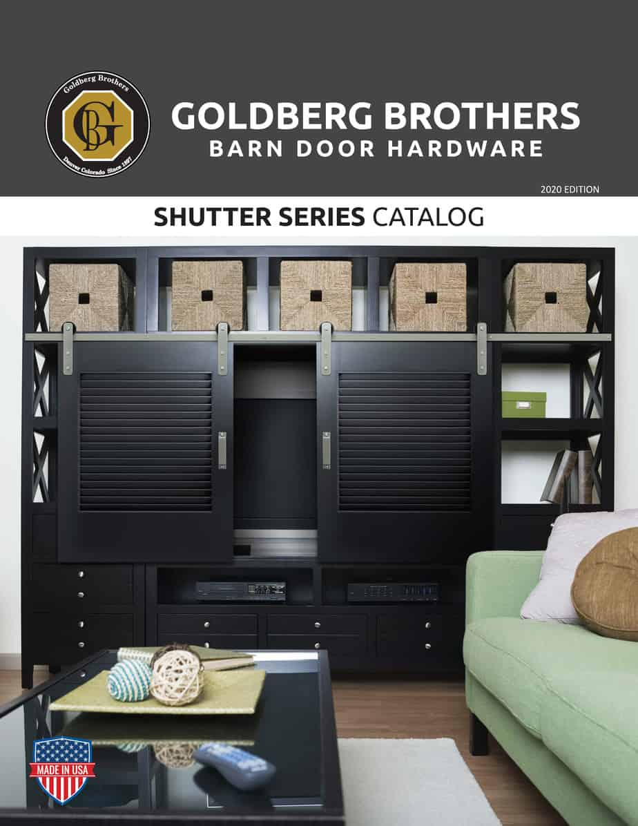 Goldberg Brothers Shutter Series barn door hardware catalog (online edition)