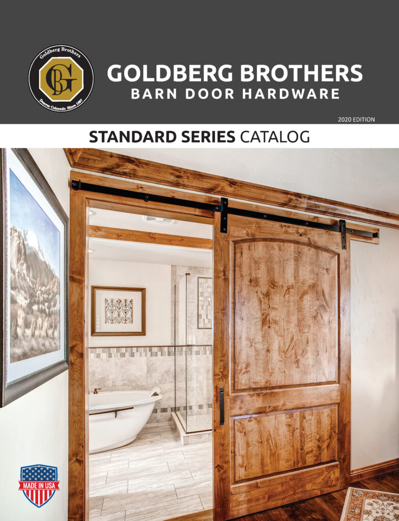 Goldberg Brothers Standard Series barn door hardware catalog (2020 online edition)