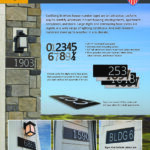 Goldberg Brothers House Number Signs 1-page flyer