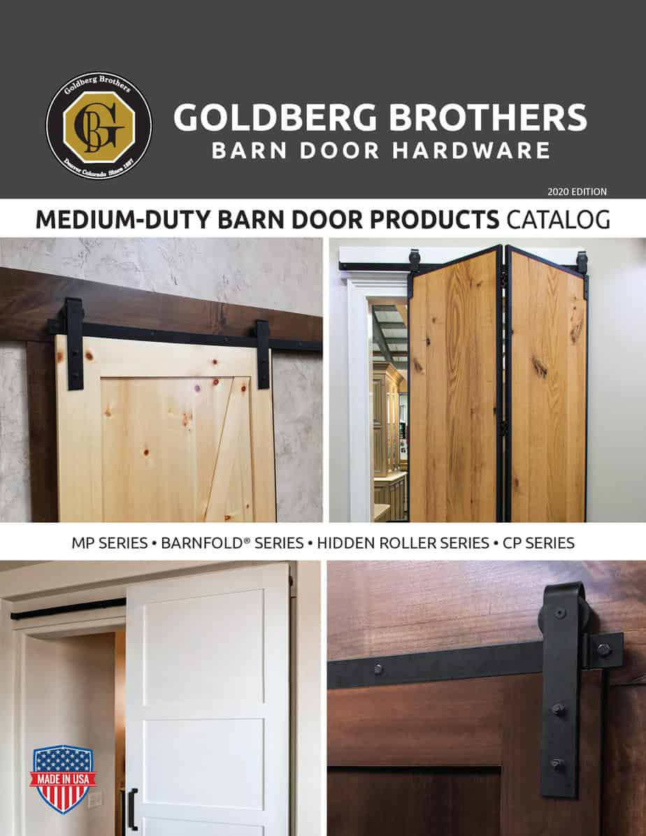 Goldberg Brothers Medium-Duty barn door hardware catalog (online edition)