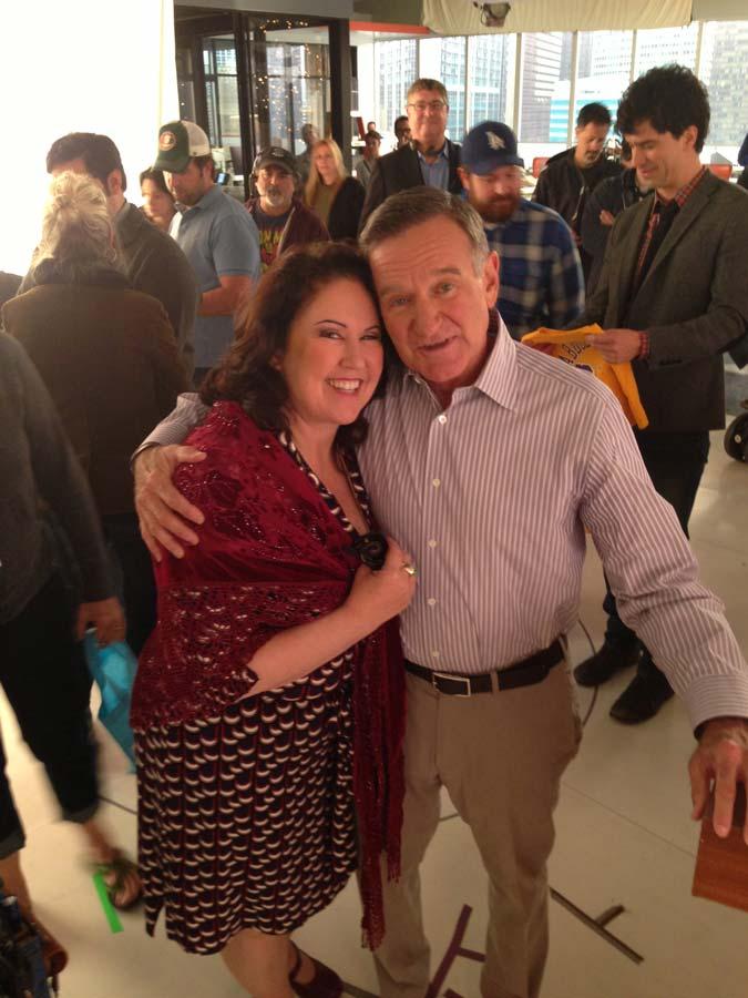 Deborah with Robin Williams
