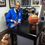 Kareem Abdul-Jabbar in His Office