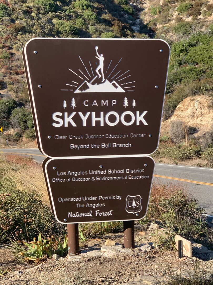 Camp Skyhook Sign
