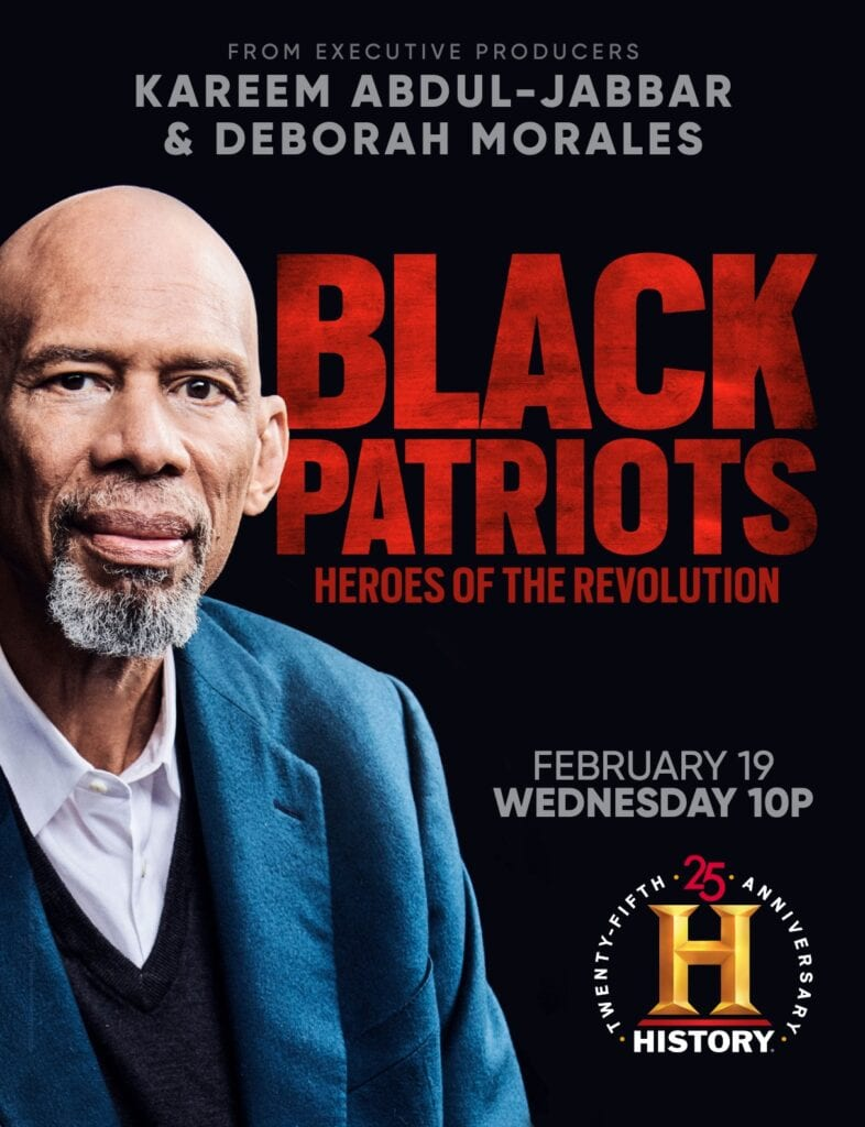 Deborah morales & kareem abdul-jabbar executive produce upcoming history channel series about black patriots
