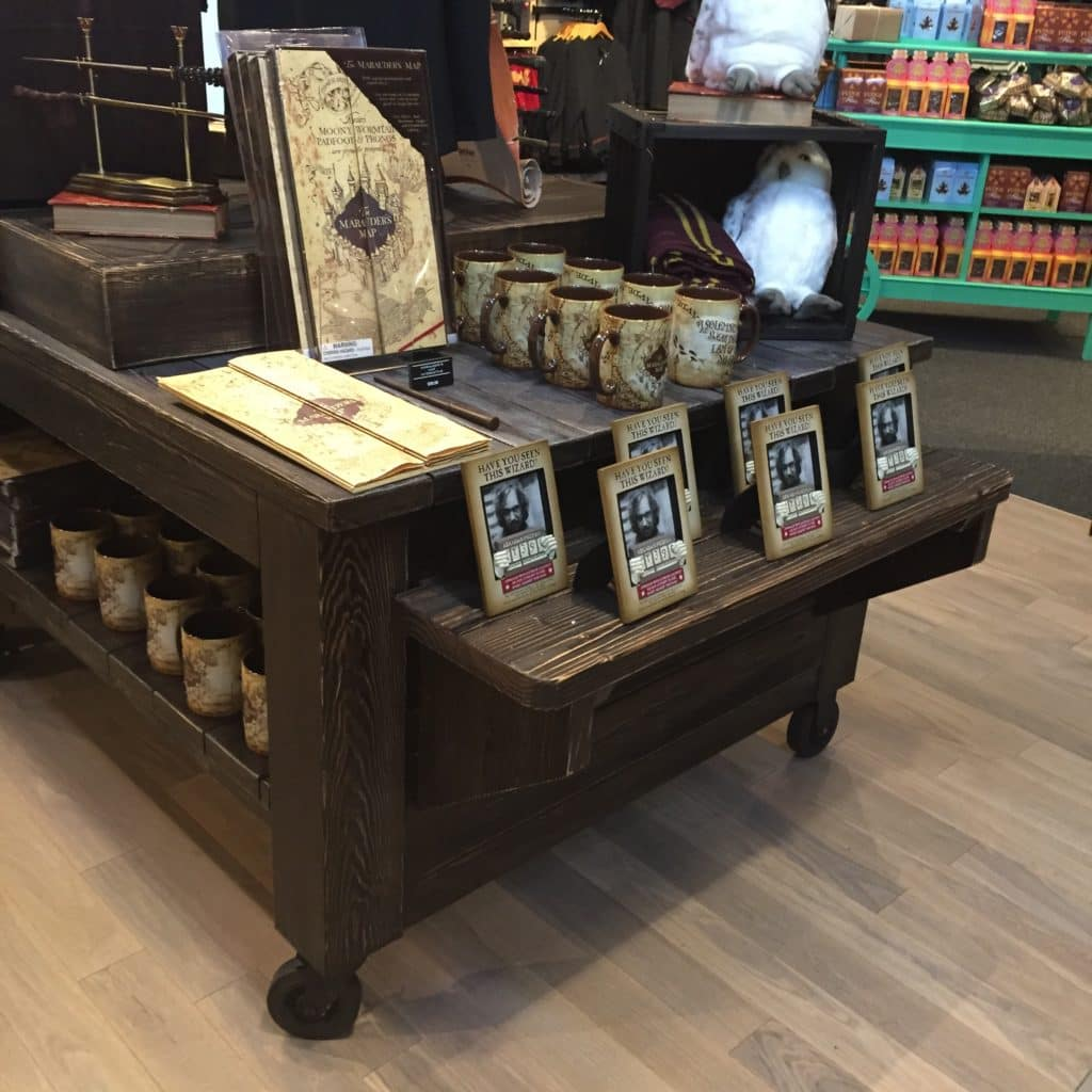 wood store merchandising and displays